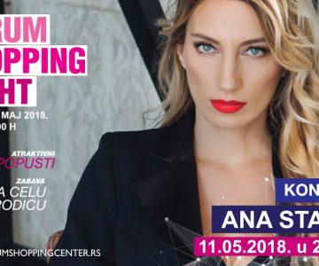 Jubilarna 15. Forumova Noć kupovine uz koncert Ane Stanić