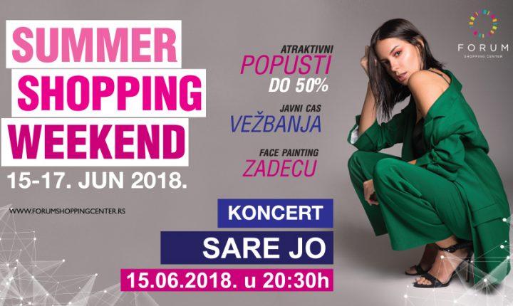 Početak sezonskih sniženja uz koncert Sare Jovanović u Forumu